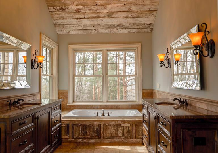 countryside charm bathroom design