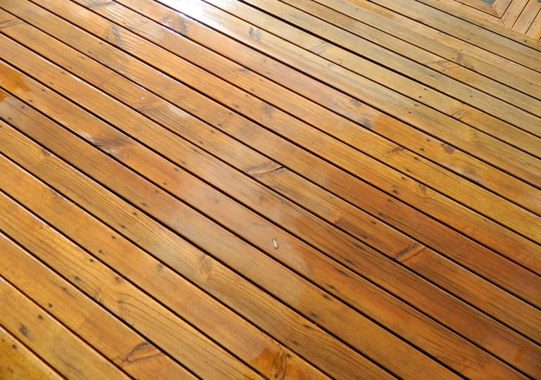 polished deck