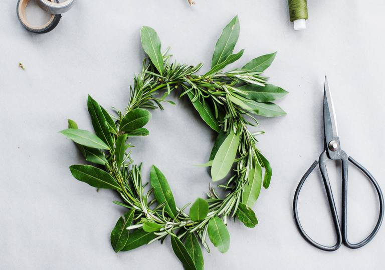wreath of rosemary