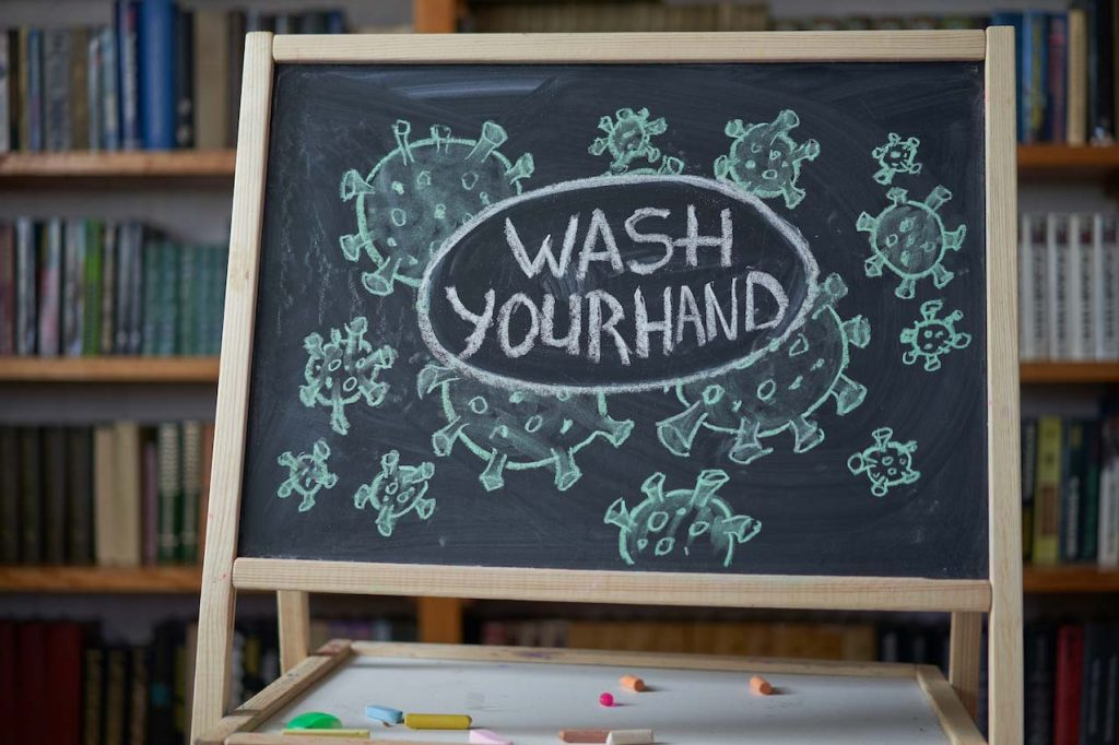 Wash hands against COVID-19