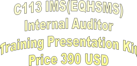 PPT – EQHSMS Integrated Management System Auditor Training