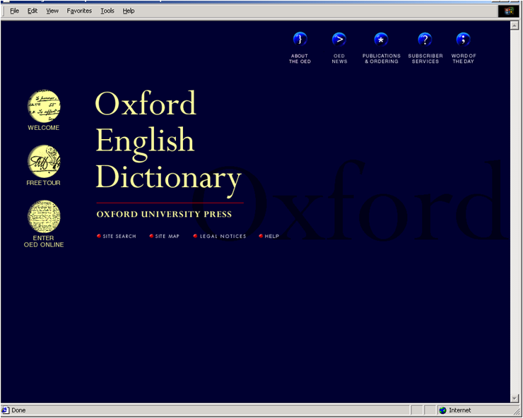 PPT – Oxford English Dictionary Online PowerPoint