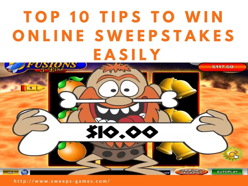 PPT – Top 10 Tips to Win Online Sweepstakes Easily! PowerPoint