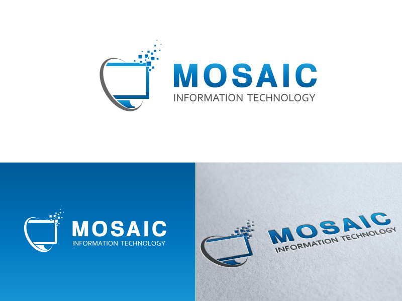 logo design contests 187 mosaic information technology logo