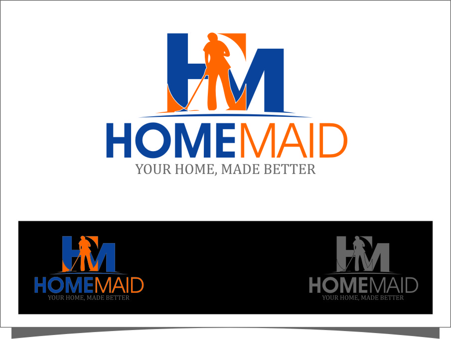 Logo Design by RasYa Muhammad Athaya - Entry No. 67 in the Logo Design Contest Unique Logo Design Wanted for HomeMaid.