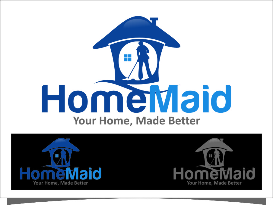 Logo Design by Ngepet_art - Entry No. 69 in the Logo Design Contest Unique Logo Design Wanted for HomeMaid.