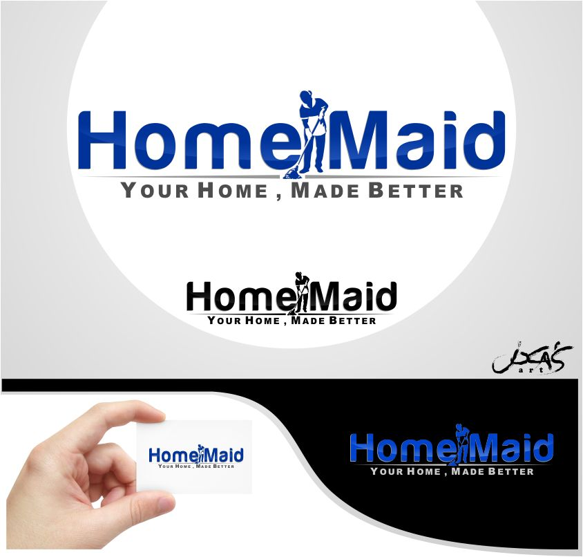 Logo Design by joca - Entry No. 70 in the Logo Design Contest Unique Logo Design Wanted for HomeMaid.