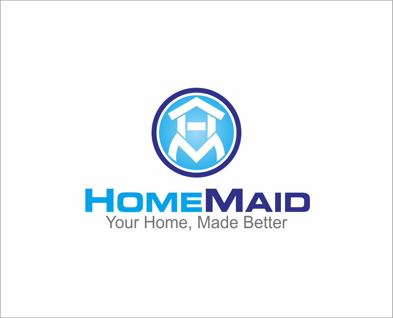 Logo Design by Armada Jamaluddin - Entry No. 78 in the Logo Design Contest Unique Logo Design Wanted for HomeMaid.
