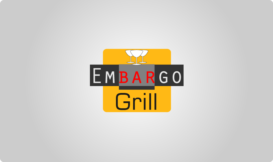 Logo Design by Private User - Entry No. 30 in the Logo Design Contest Captivating Logo Design for Embargo Grill.