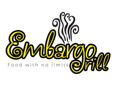 Logo Design by mediaproductionart - Entry No. 33 in the Logo Design Contest Captivating Logo Design for Embargo Grill.