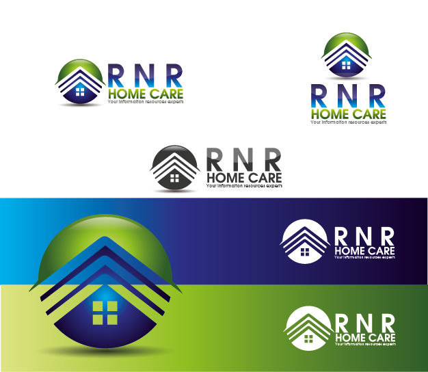 Logo Design by Private User - Entry No. 78 in the Logo Design Contest Imaginative Logo Design for RNR HomeCare.