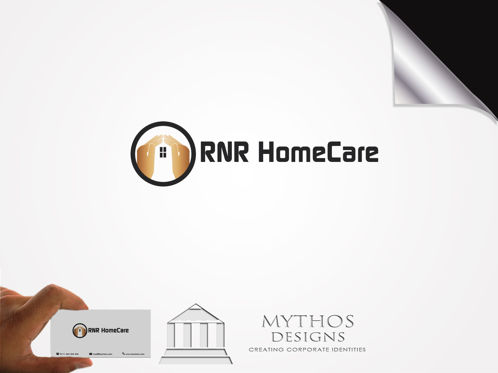 Logo Design by Mythos Designs - Entry No. 81 in the Logo Design Contest Imaginative Logo Design for RNR HomeCare.