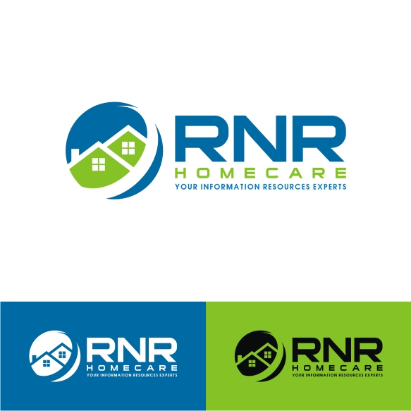 Logo Design by Private User - Entry No. 82 in the Logo Design Contest Imaginative Logo Design for RNR HomeCare.