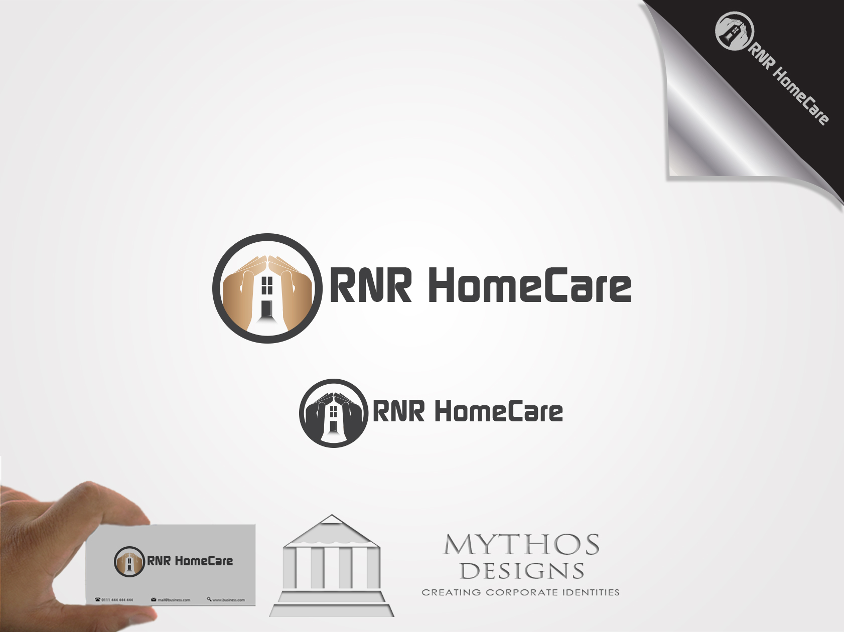 Logo Design by Mythos Designs - Entry No. 83 in the Logo Design Contest Imaginative Logo Design for RNR HomeCare.