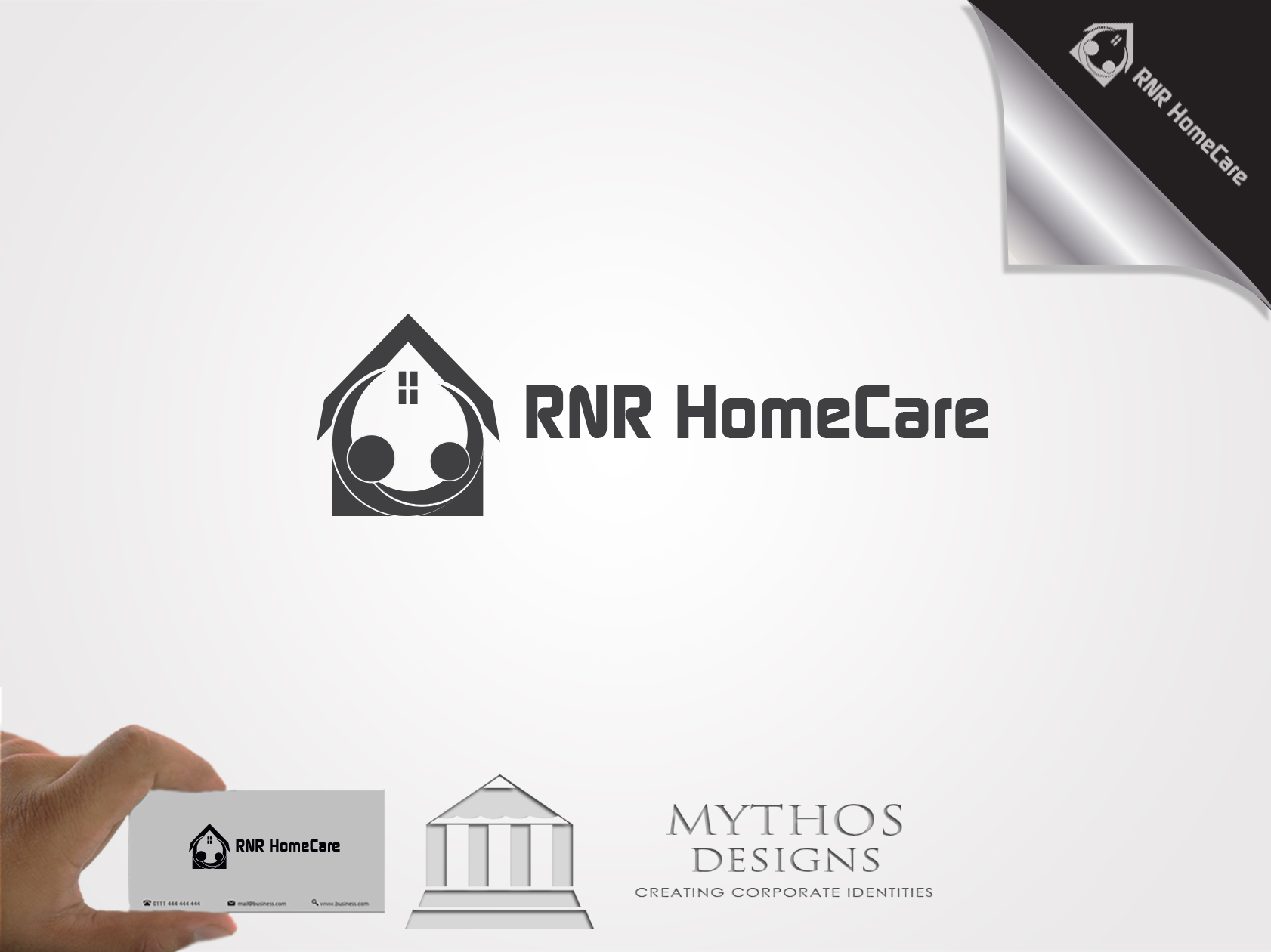 Logo Design by Mythos Designs - Entry No. 84 in the Logo Design Contest Imaginative Logo Design for RNR HomeCare.
