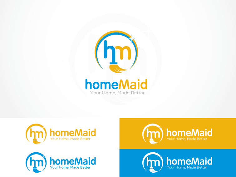 Logo Design by Private User - Entry No. 83 in the Logo Design Contest Unique Logo Design Wanted for HomeMaid.