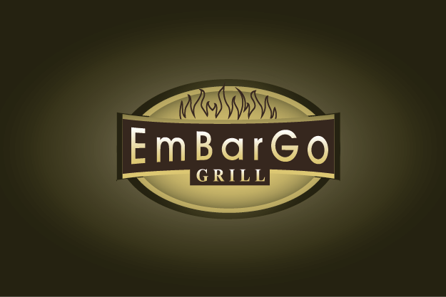 Logo Design by Private User - Entry No. 36 in the Logo Design Contest Captivating Logo Design for Embargo Grill.