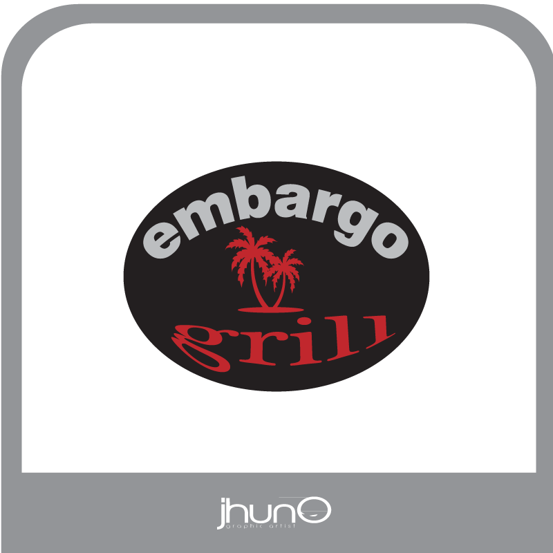 Logo Design by zesthar - Entry No. 39 in the Logo Design Contest Captivating Logo Design for Embargo Grill.