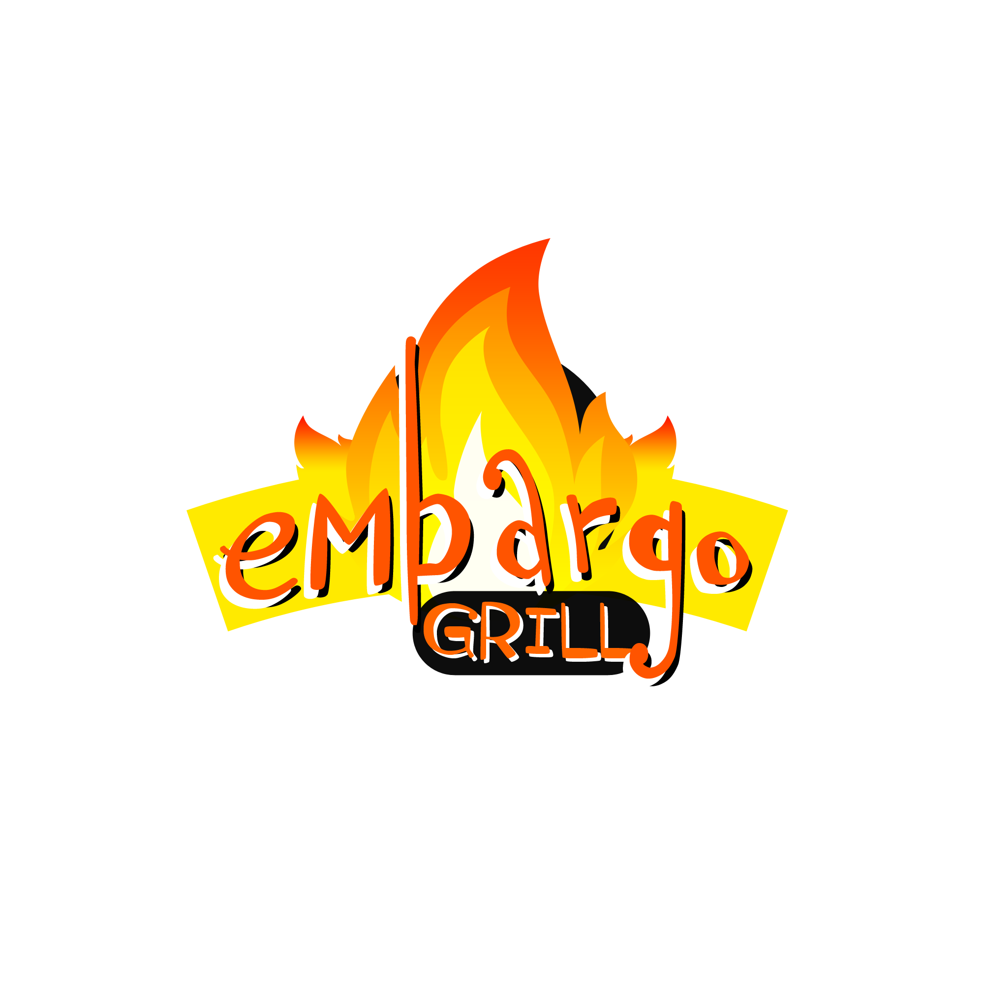 Logo Design by Kenneth Joel - Entry No. 40 in the Logo Design Contest Captivating Logo Design for Embargo Grill.