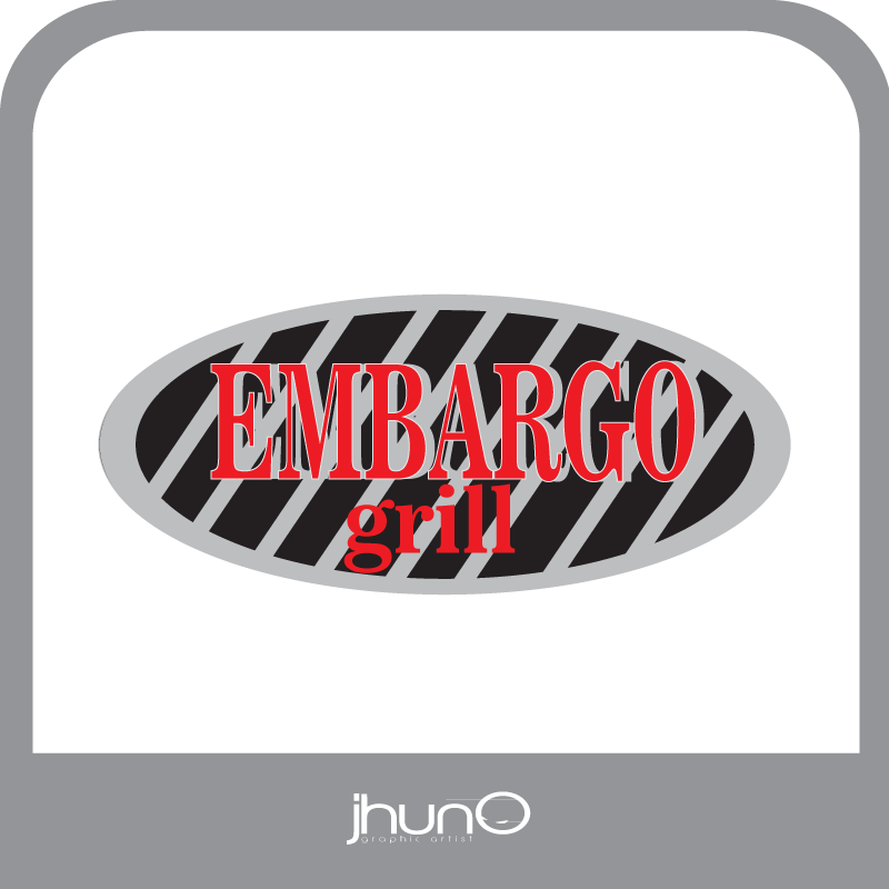 Logo Design by zesthar - Entry No. 41 in the Logo Design Contest Captivating Logo Design for Embargo Grill.