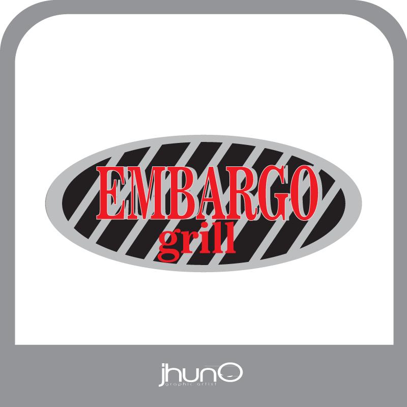 Logo Design by zesthar - Entry No. 41 in the Logo Design Contest Captivating Logo Design for Embargo Grill.