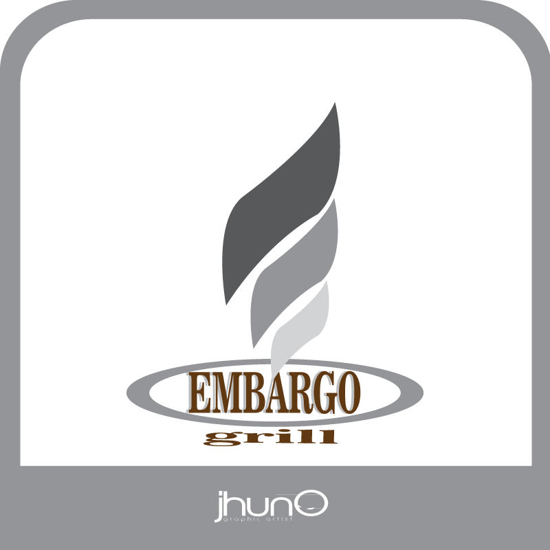 Logo Design by zesthar - Entry No. 42 in the Logo Design Contest Captivating Logo Design for Embargo Grill.