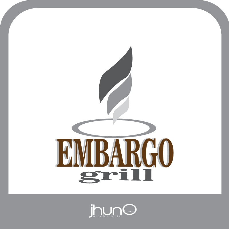 Logo Design by zesthar - Entry No. 43 in the Logo Design Contest Captivating Logo Design for Embargo Grill.