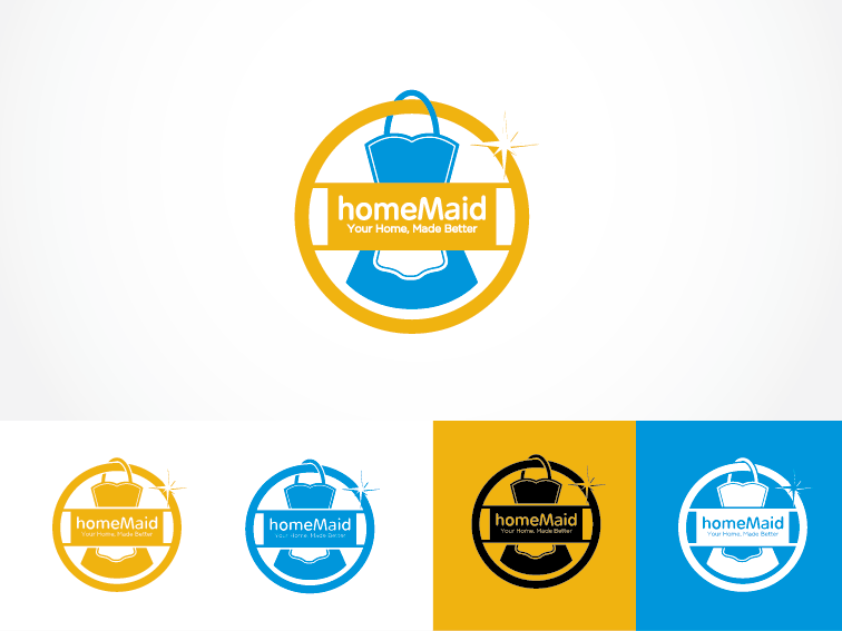 Logo Design by Private User - Entry No. 93 in the Logo Design Contest Unique Logo Design Wanted for HomeMaid.