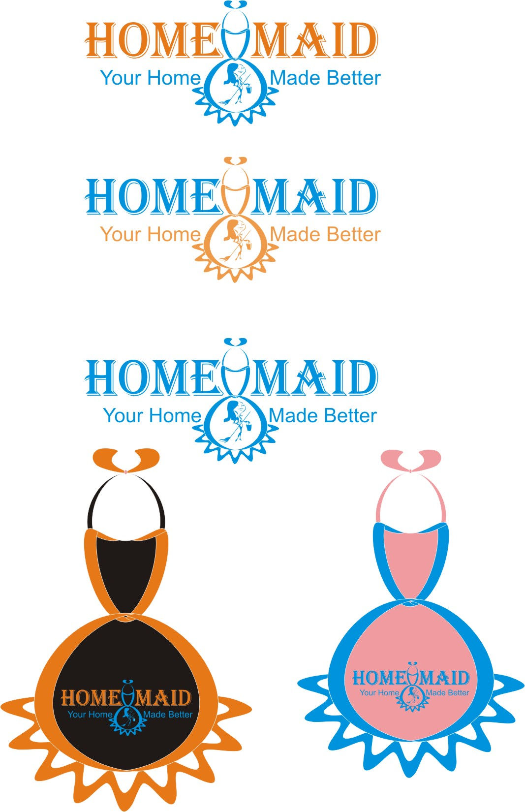 Logo Design by Korsunov Oleg - Entry No. 105 in the Logo Design Contest Unique Logo Design Wanted for HomeMaid.
