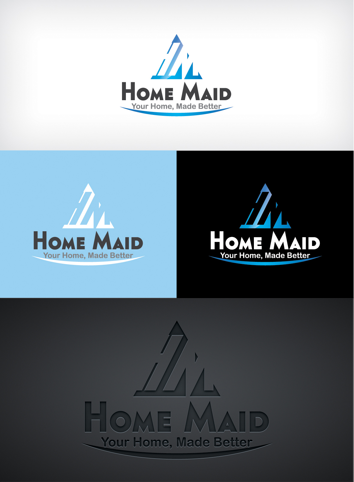 Logo Design by Shujaat Jaffri - Entry No. 114 in the Logo Design Contest Unique Logo Design Wanted for HomeMaid.