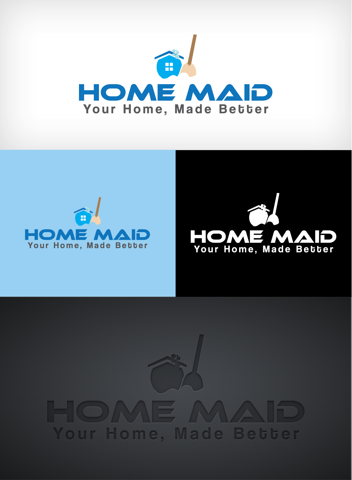 Logo Design by Shujaat Jaffri - Entry No. 115 in the Logo Design Contest Unique Logo Design Wanted for HomeMaid.