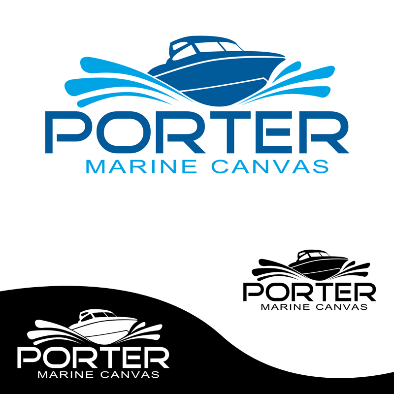 Logo Design by Private User - Entry No. 90 in the Logo Design Contest Imaginative Logo Design for Porter Marine Canvas.
