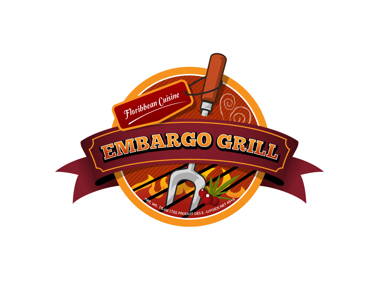 Logo Design by jpbituin - Entry No. 48 in the Logo Design Contest Captivating Logo Design for Embargo Grill.