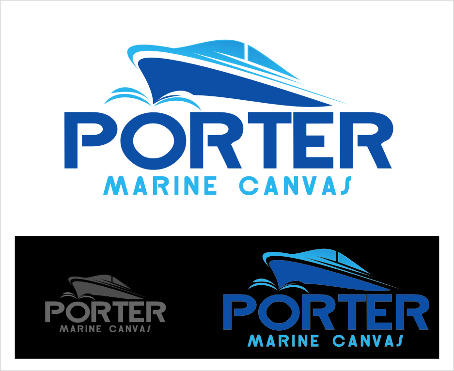 Logo Design by RasYa Muhammad Athaya - Entry No. 93 in the Logo Design Contest Imaginative Logo Design for Porter Marine Canvas.