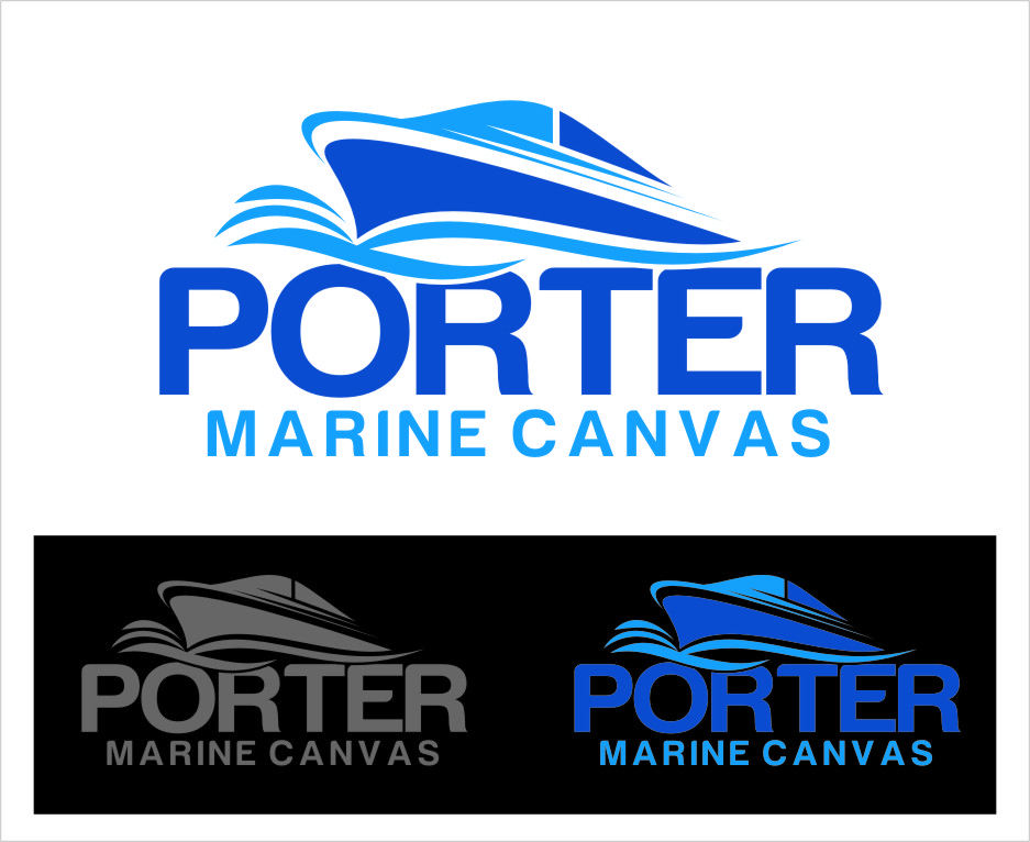 Logo Design by RasYa Muhammad Athaya - Entry No. 94 in the Logo Design Contest Imaginative Logo Design for Porter Marine Canvas.