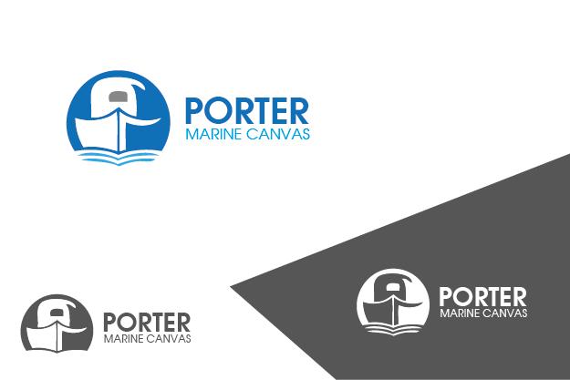 Logo Design by Private User - Entry No. 95 in the Logo Design Contest Imaginative Logo Design for Porter Marine Canvas.