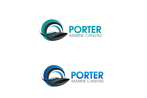 Logo Design by Digital Designs - Entry No. 96 in the Logo Design Contest Imaginative Logo Design for Porter Marine Canvas.