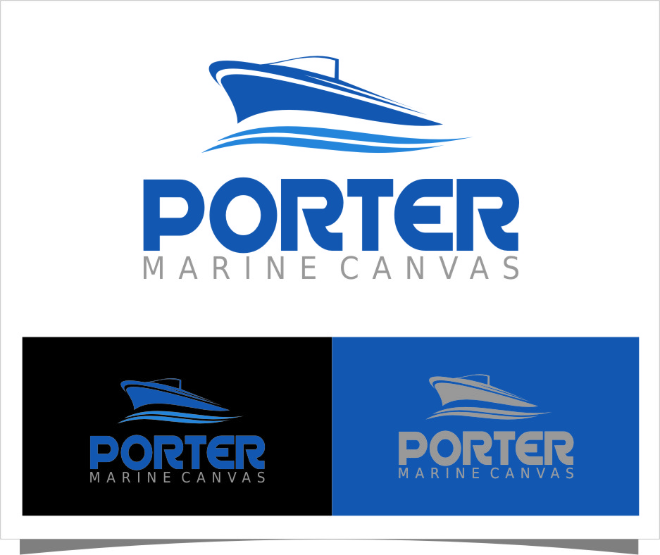 Logo Design by Ngepet_art - Entry No. 98 in the Logo Design Contest Imaginative Logo Design for Porter Marine Canvas.