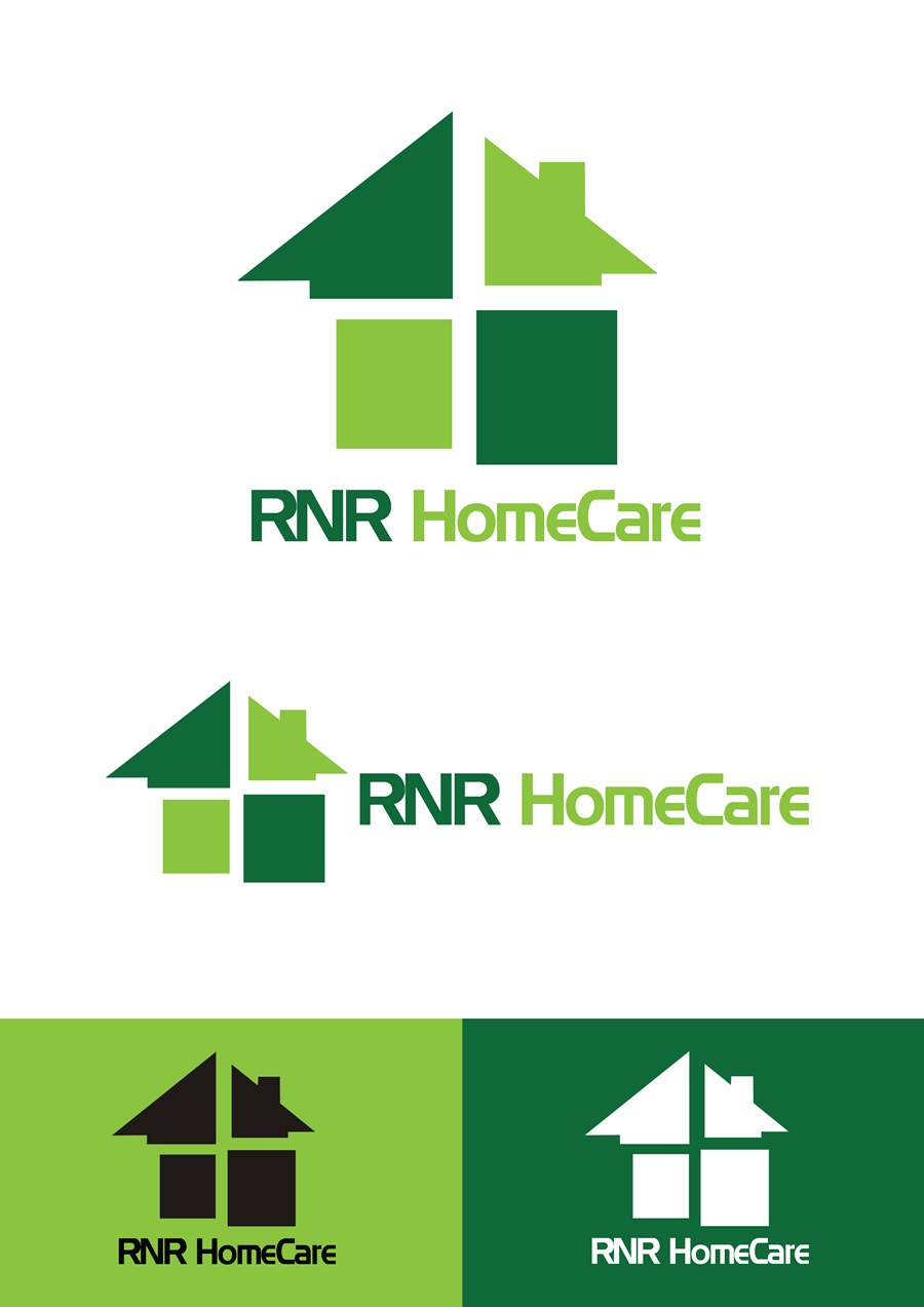 Logo Design by Respati Himawan - Entry No. 89 in the Logo Design Contest Imaginative Logo Design for RNR HomeCare.