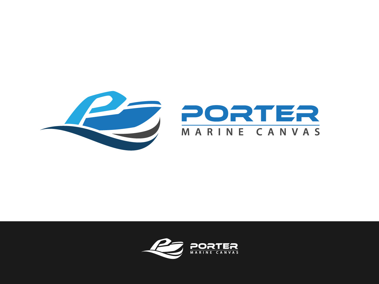 Logo Design by jpbituin - Entry No. 99 in the Logo Design Contest Imaginative Logo Design for Porter Marine Canvas.