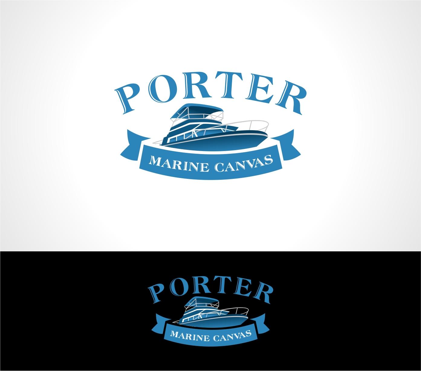 Logo Design by haidu - Entry No. 103 in the Logo Design Contest Imaginative Logo Design for Porter Marine Canvas.