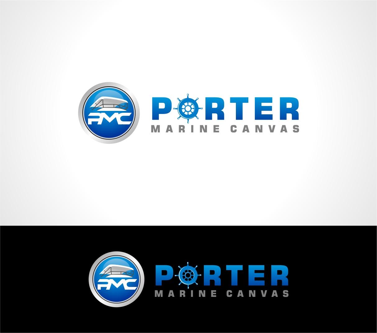 Logo Design by haidu - Entry No. 105 in the Logo Design Contest Imaginative Logo Design for Porter Marine Canvas.