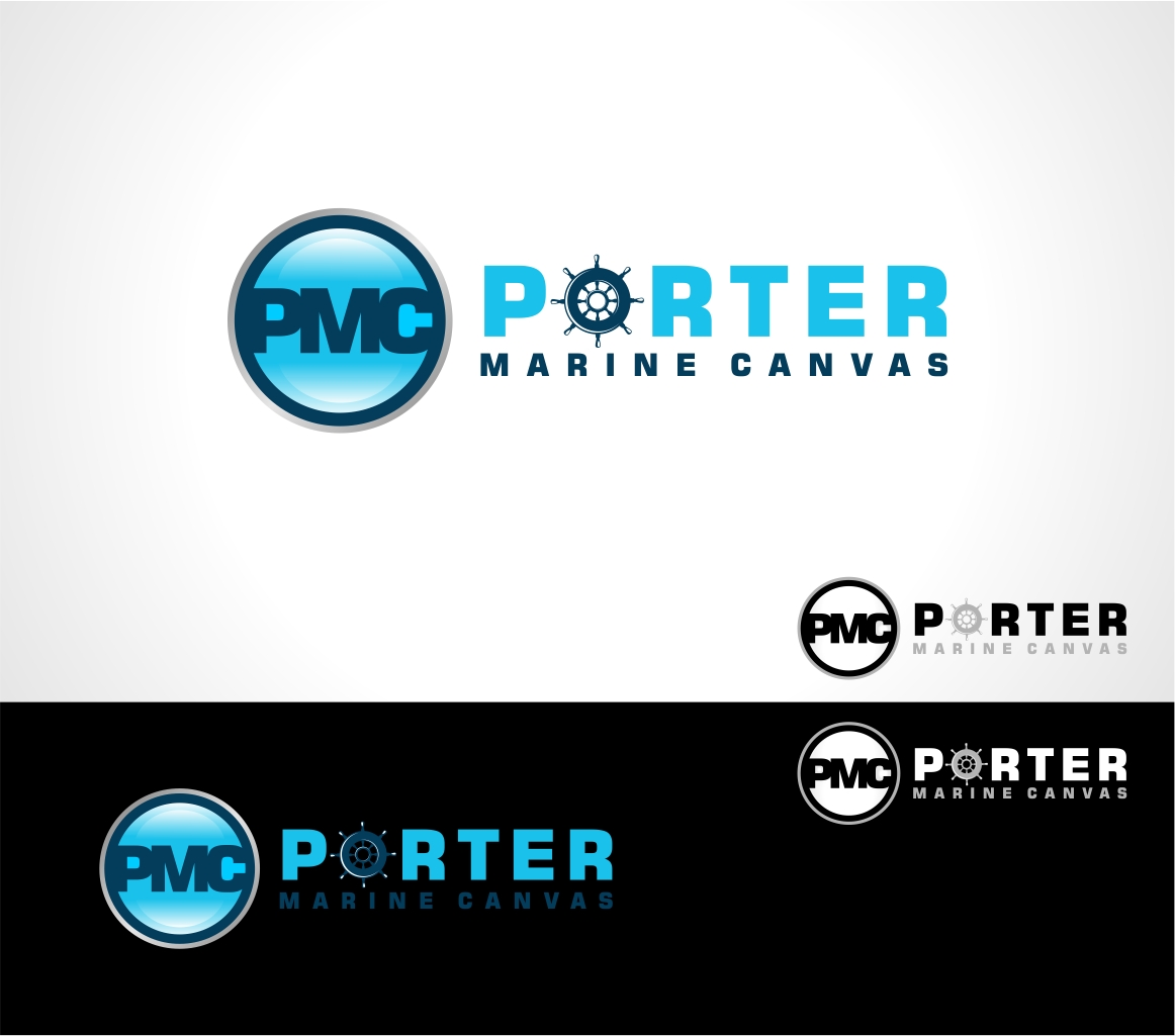 Logo Design by haidu - Entry No. 107 in the Logo Design Contest Imaginative Logo Design for Porter Marine Canvas.