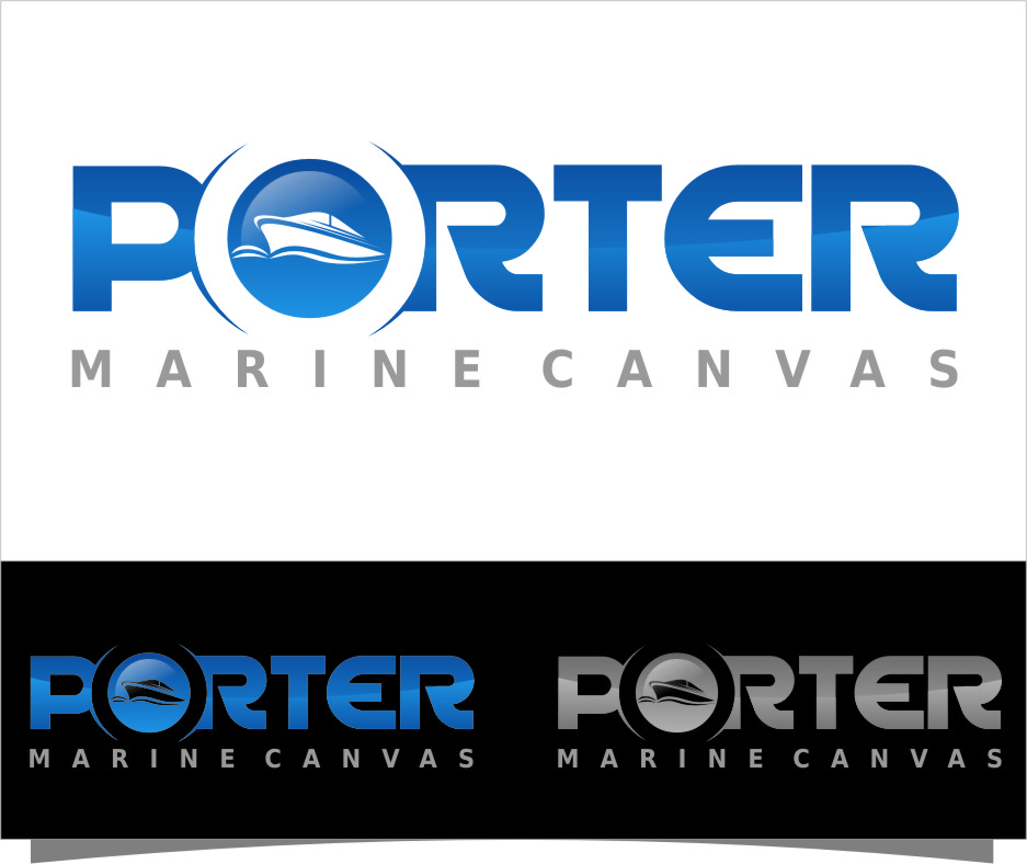 Logo Design by Ngepet_art - Entry No. 108 in the Logo Design Contest Imaginative Logo Design for Porter Marine Canvas.