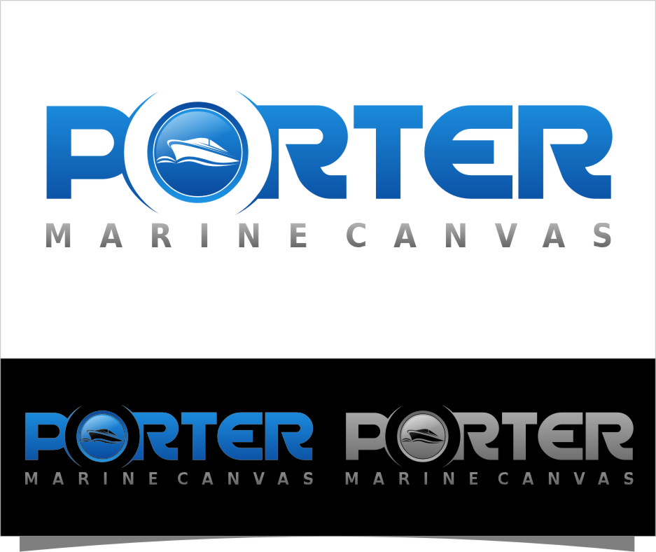 Logo Design by Ngepet_art - Entry No. 109 in the Logo Design Contest Imaginative Logo Design for Porter Marine Canvas.