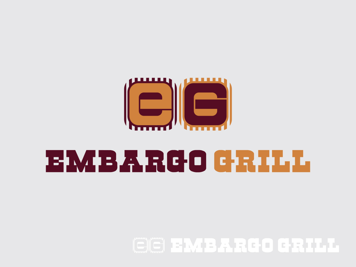 Logo Design by Raymart Fernandez - Entry No. 49 in the Logo Design Contest Captivating Logo Design for Embargo Grill.