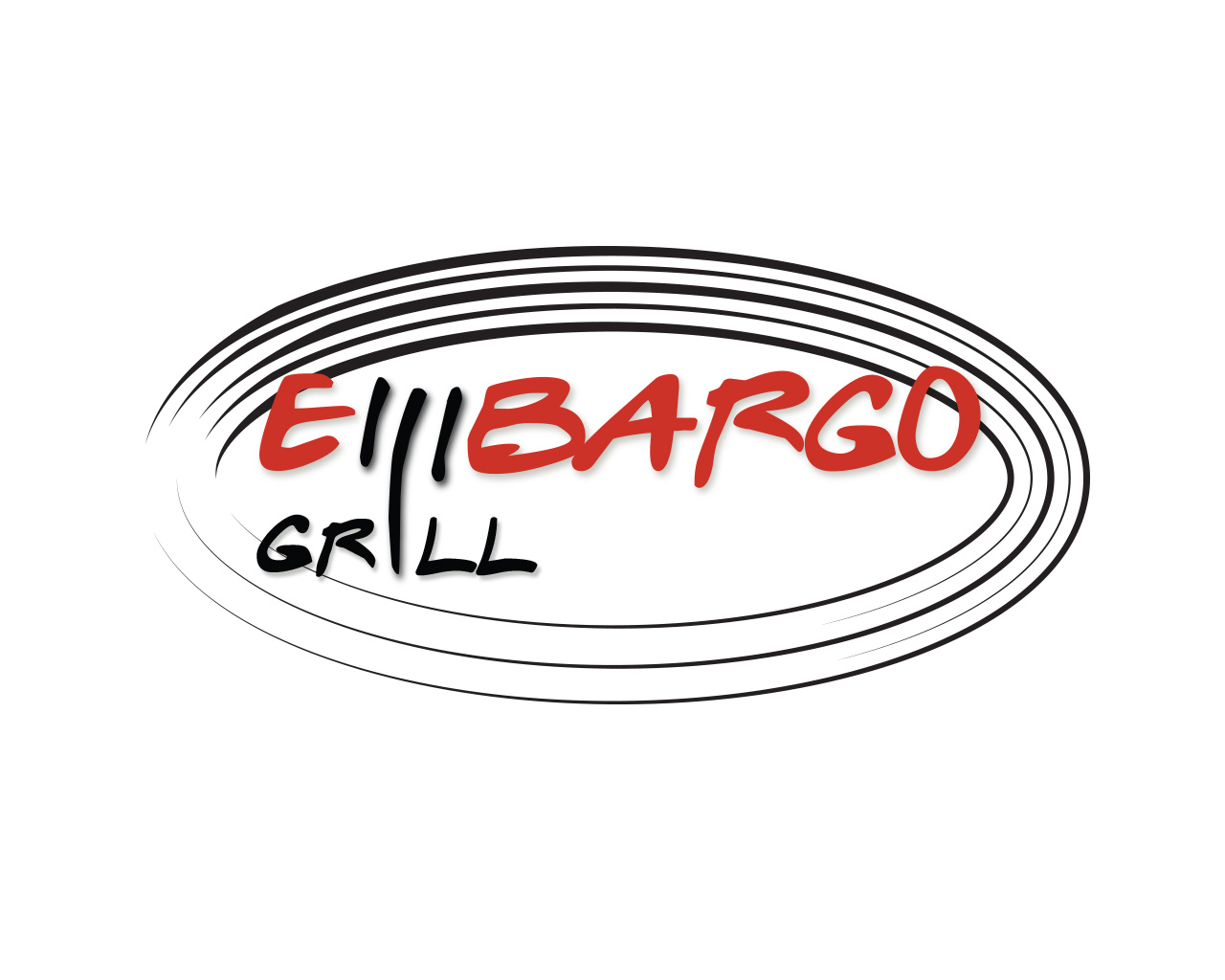 Logo Design by Ioanna Rokka - Entry No. 50 in the Logo Design Contest Captivating Logo Design for Embargo Grill.
