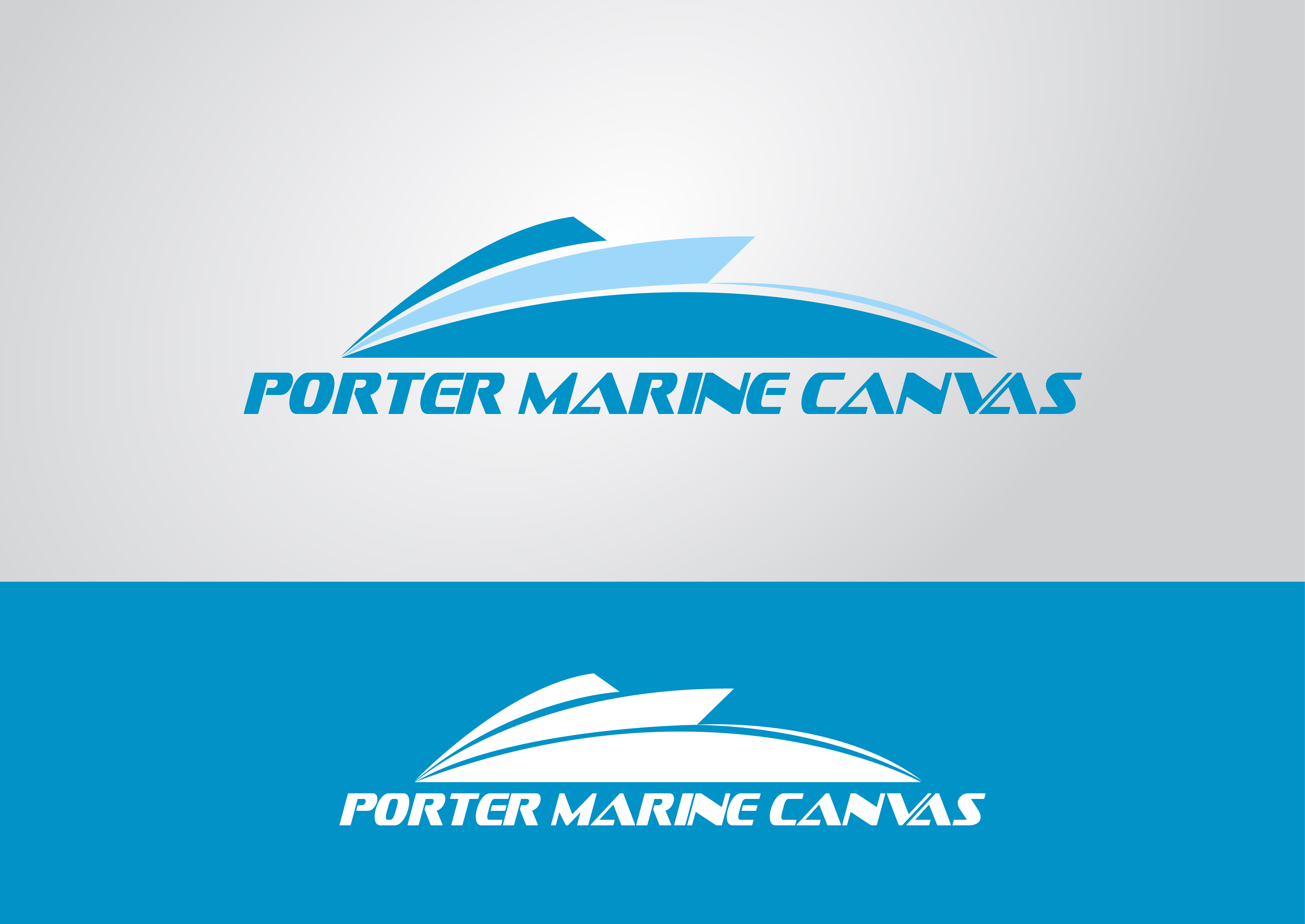 Logo Design by 3draw - Entry No. 110 in the Logo Design Contest Imaginative Logo Design for Porter Marine Canvas.
