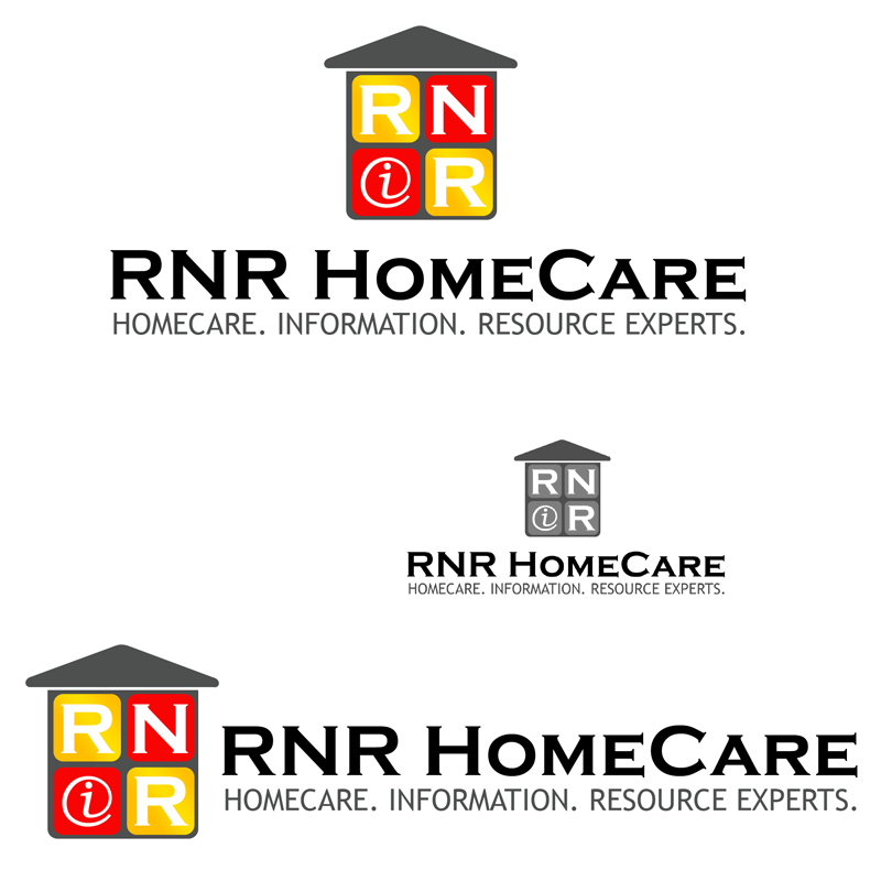 Logo Design by Private User - Entry No. 111 in the Logo Design Contest Imaginative Logo Design for RNR HomeCare.