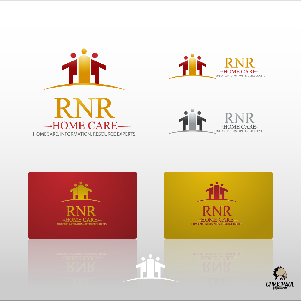 Logo Design by zesthar - Entry No. 113 in the Logo Design Contest Imaginative Logo Design for RNR HomeCare.